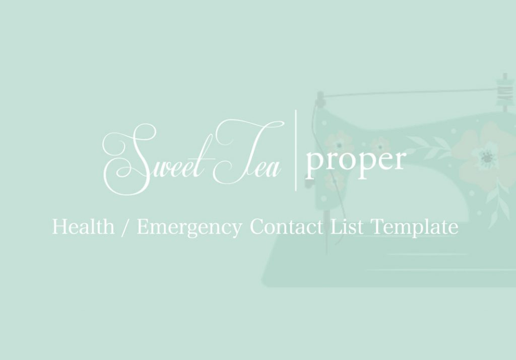 Health / Emergency Contact List Template
